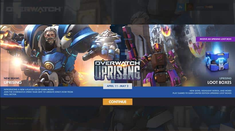 Overwatch Event: Uprising is LIVE!