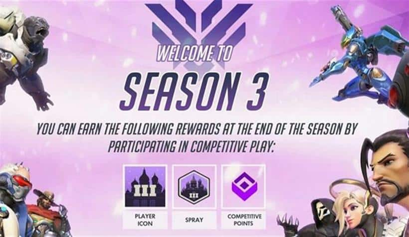 The Overwatch Competitive Season 3 Rewards