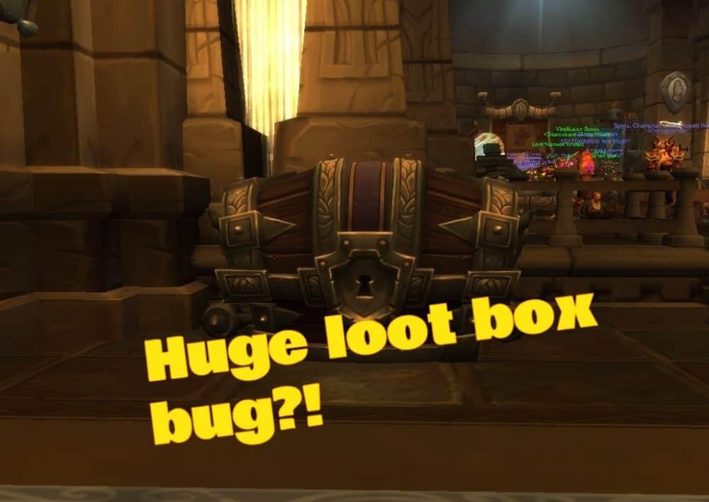 huge loot box bug