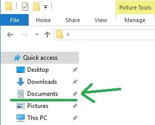 find documents folder