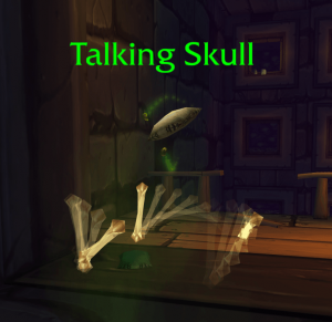 talking skull scholomance