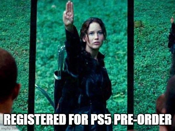ps5 pre-order registered